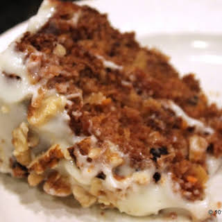 Healthier Low Fat Carrot Cake.