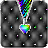 ♥Rainbow Heart Zipper Locker♥