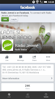 Screenshot of Radio Jemne