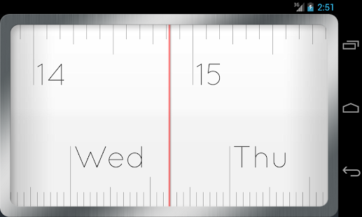 Linear Clock Widget Pro- screenshot thumbnail