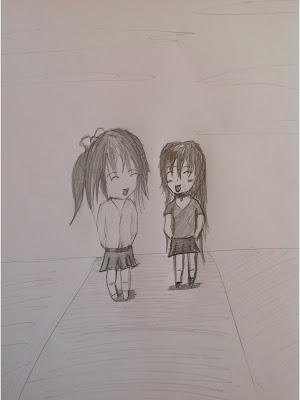 Best friends pencil sketch by tanshiart