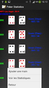 Poker statistics online players