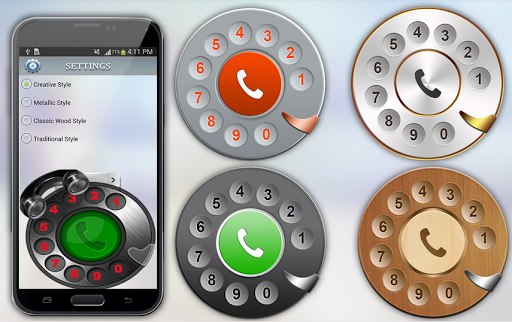 Rotary Phone Dialer- Old Phone