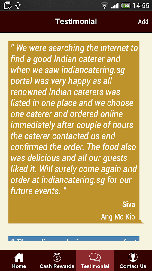 Indian Catering Services- screenshot