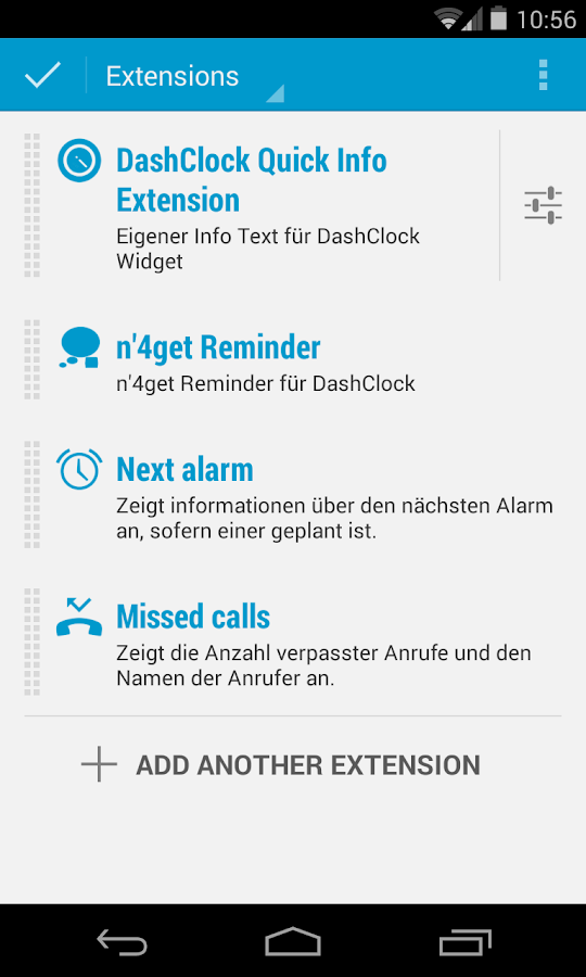 Quick Info DashClock Extension- screenshot