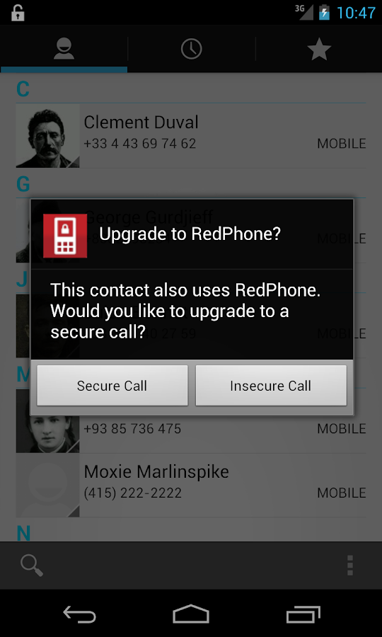 RedPhone :: Private Calls - screenshot