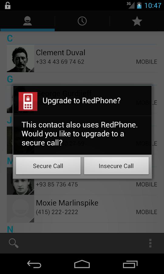 RedPhone :: Private Calls- screenshot