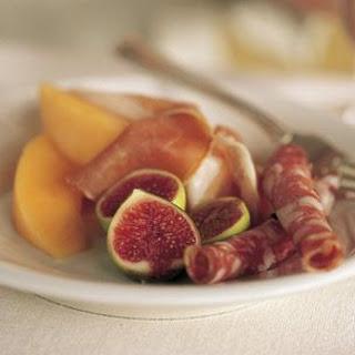 Prosciutto, Salami, Melon and Figs.