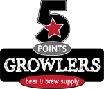 Logo for 5 Points Growler Beer & Brew Supply