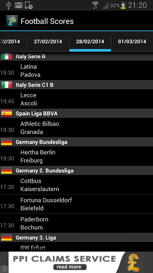 Score Live Fotbal