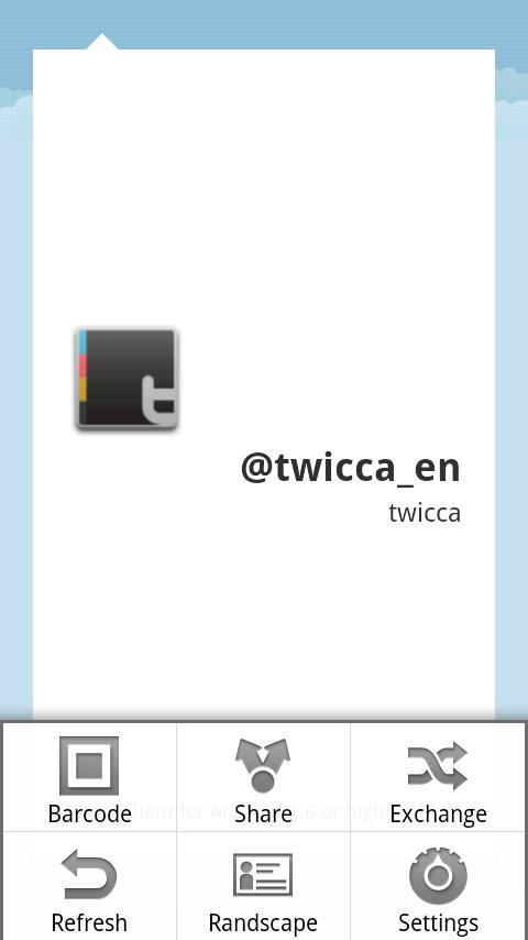CallingCard plug-in for twicca- screenshot