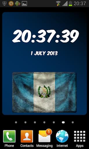 Guatemala Digital Clock