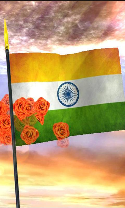 Download The Indian Flag 3d Flower Touch Android Apps On Nonesearchcom