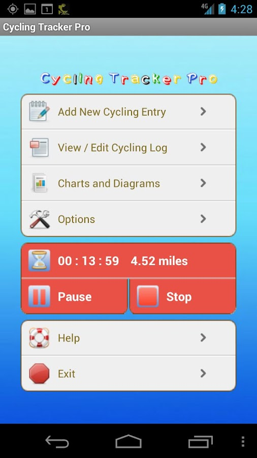 Cycling Tracker Pro- screenshot