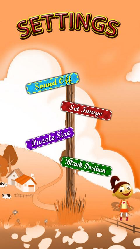 Cartoon Sliding Puzzle Game - screenshot