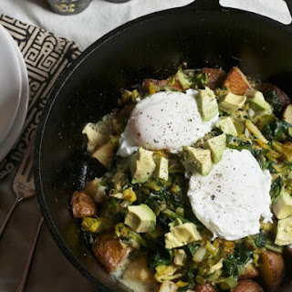 Green Eggs & Potato Skillet for Two.