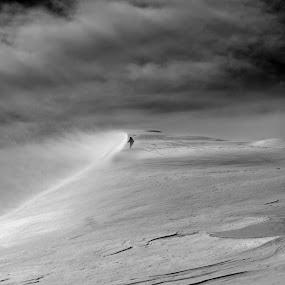 Slope by Svetlin Ivanov - Black & White Landscapes ( snow, sport, picsvet )