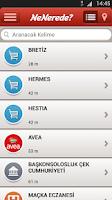 Screenshot of Avea NeNerede