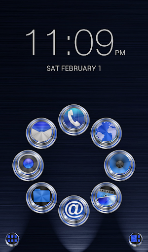 Smart Launcher Theme Techno 3D
