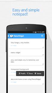 Memo Widget (Note Widget) - screenshot thumbnail