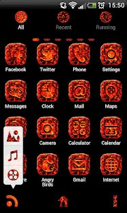 MAGMA Theme GO Launcher EX - screenshot thumbnail