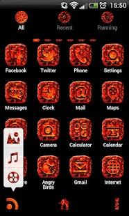 MAGMA Theme GO Launcher EX - screenshot thumbnail