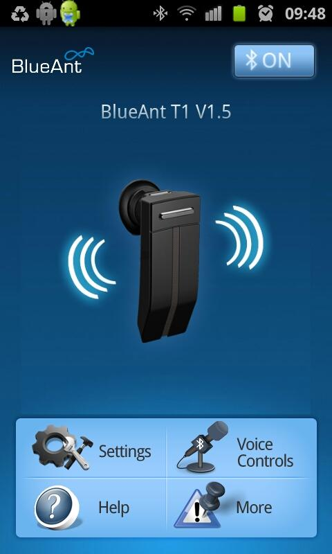 BlueAnt Android Application- screenshot