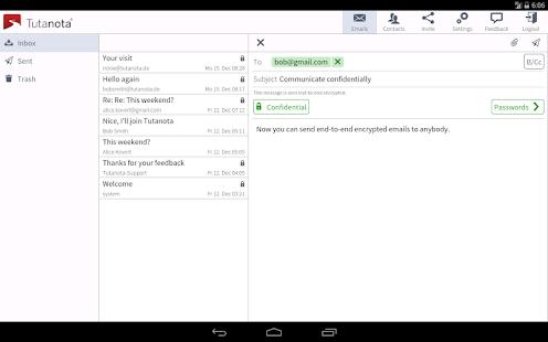 Tutanota: simply secure emails Screenshot 8