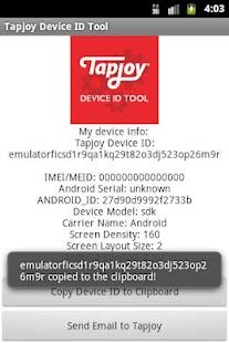 Tapjoy Device ID Tool- screenshot thumbnail
