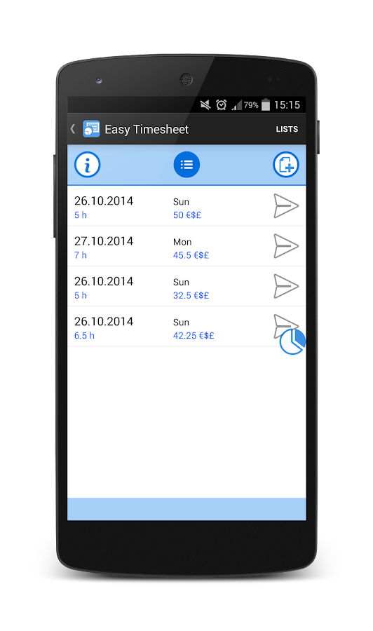 Easy Timesheet - screenshot