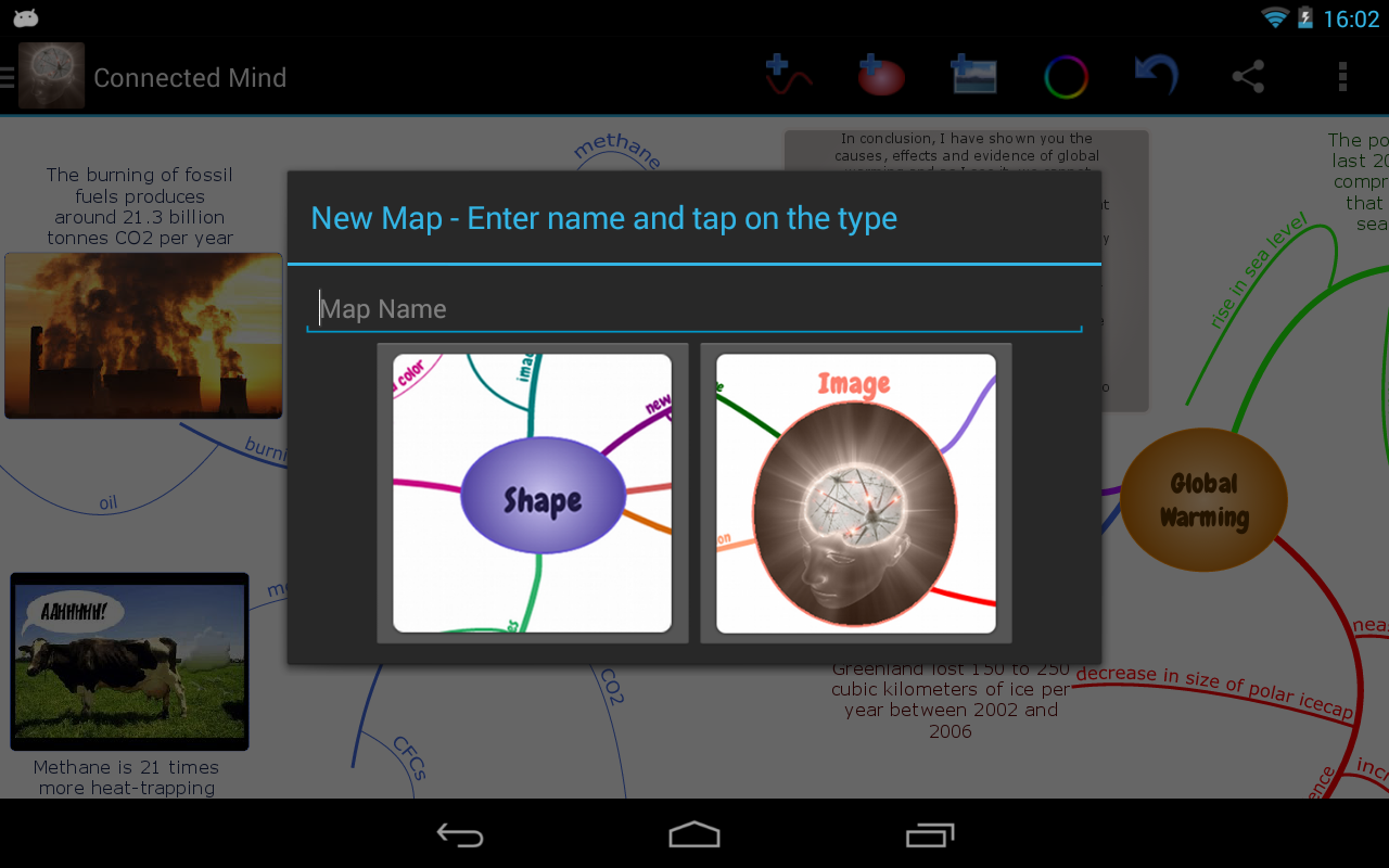 Connected Mind (mind mapping) - screenshot