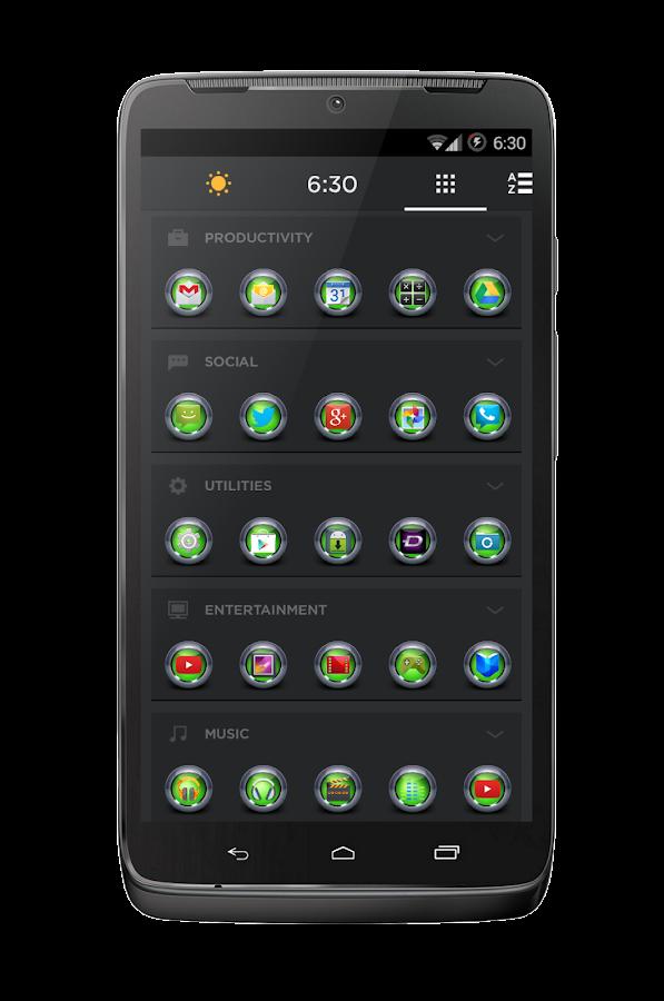Tungsten Multi Theme (Green) - screenshot