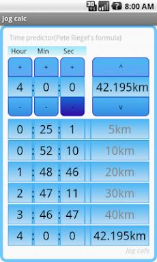 Jog calc マラソン換算・早見表アプリ(⇔10km)のおすすめ画像2