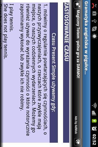Angielski Gramatyka- screenshot