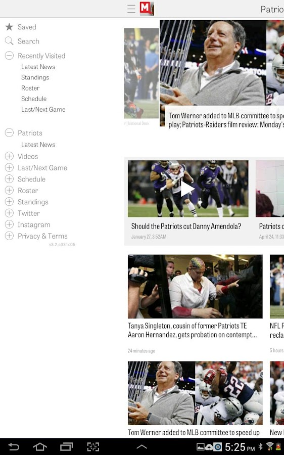 MassLive.com: Patriots News- screenshot
