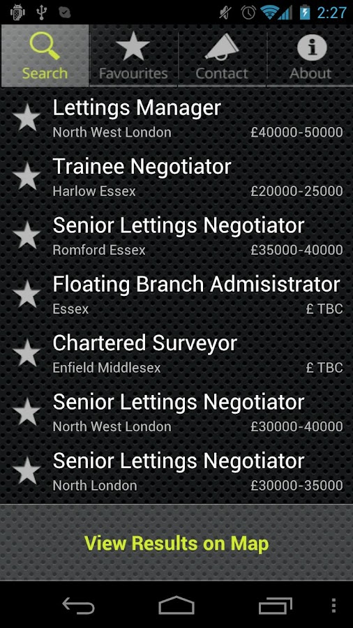 LCA Estate Agency Job Search - screenshot