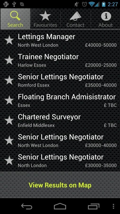 LCA Estate Agency Job Search - screenshot