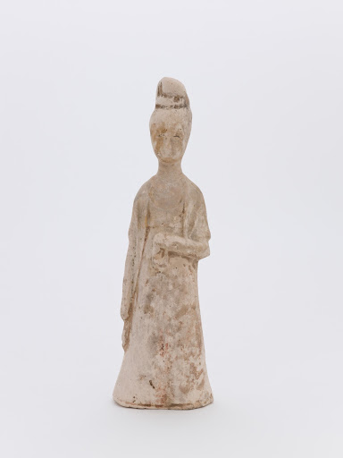 figure of woman with long sleeves and high head-dress
