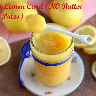 Honey Lemon Curd (NO Oil or Butter, Paleo).
