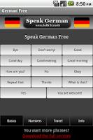 Screenshot of Speak German Free