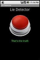 Screenshot of (Fake) Lie Detector