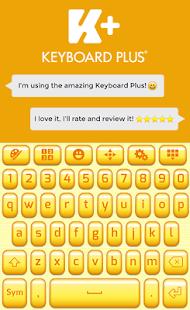 Yellow Keyboard Theme - náhled