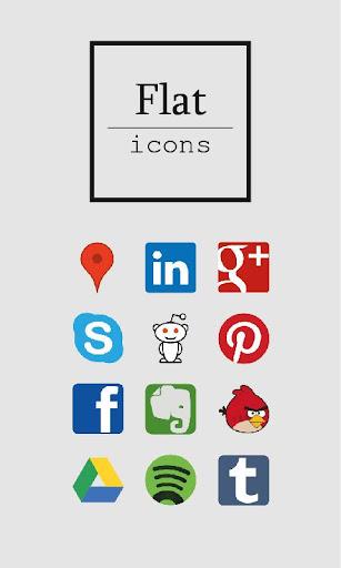 Flat icons ADW Apex GO Nova