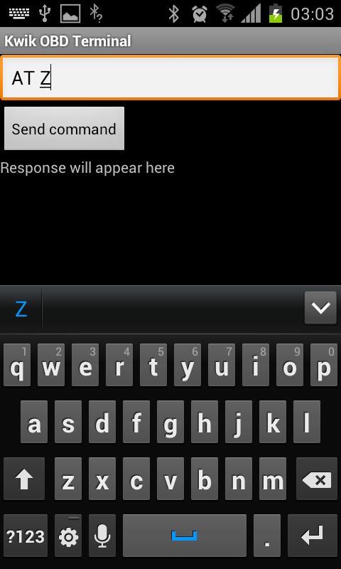 Kwik OBD Terminal- screenshot