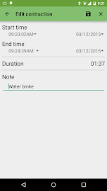 Contraction Timer Screenshot 5