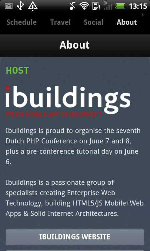 Dutch PHP Conference - screenshot