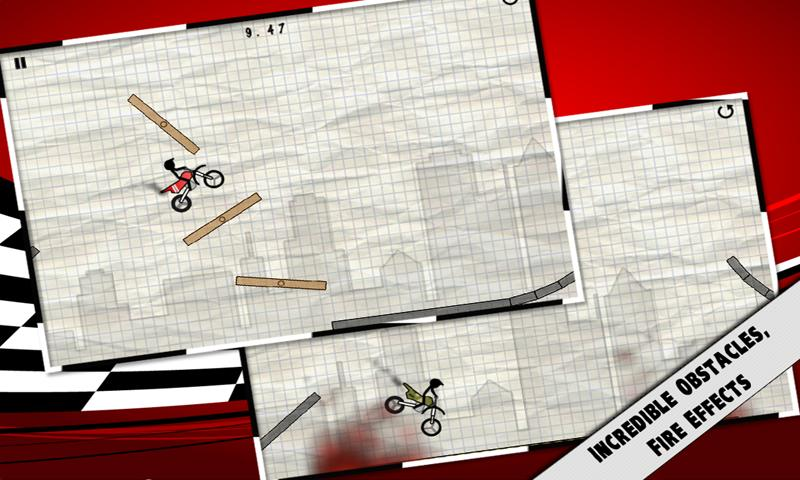 Stick Stunt Biker (Free) - screenshot