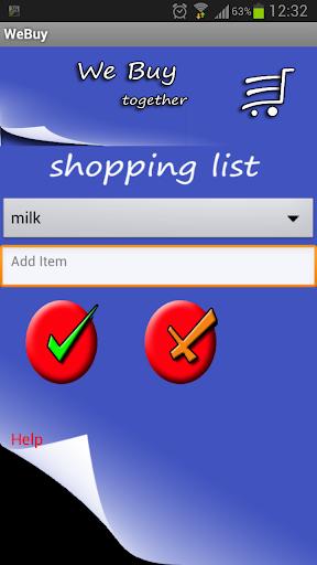 shopping list share - WeBuy