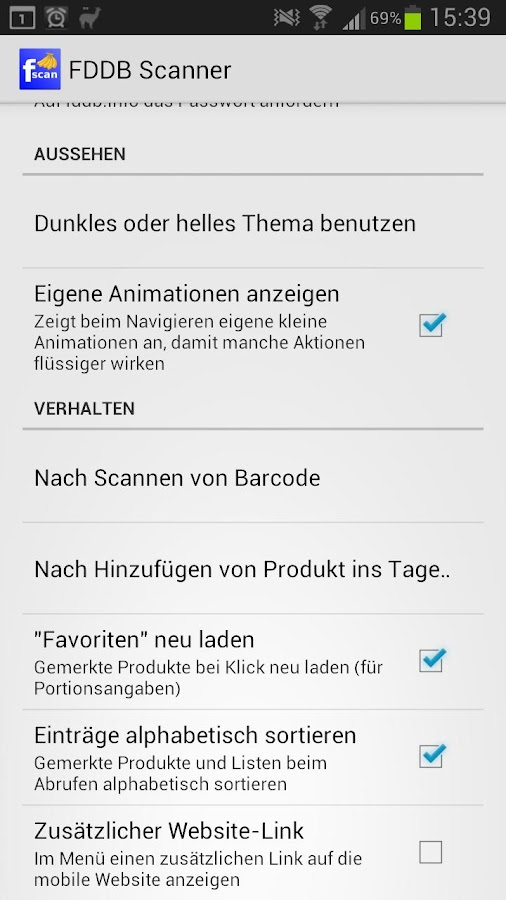 FDDB Scanner- screenshot