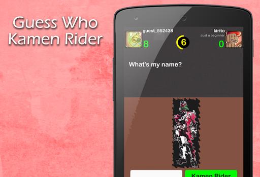 Guess Who Kamen Rider